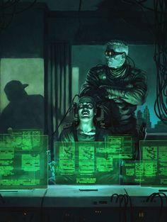 fuck yeah cyberpunk — Cyberspace Hacker - Yellow Down by BorjaPindado Arte Sci Fi, Sci Fi Art, Science Fiction, Cyberpunk 2077, Cyberpunk Anime, Blade Runner, Hacker Art, Vic Rattlehead, Shadowrun Rpg