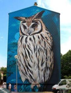 My Owl Barn: 10 Awesome Owl Artwork by Street Artists