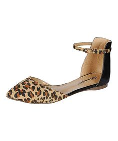 Look what I found on #zulily! Leopard Dolley Ankle-Strap Flat by Breckelle's #zulilyfinds