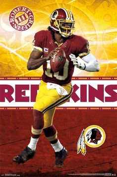 ROBERT GRIFFIN III POSTER ~ FOCUS 22x34 NFL Washington Redskins Football 2094