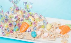 Easter chocolate covered snack mix