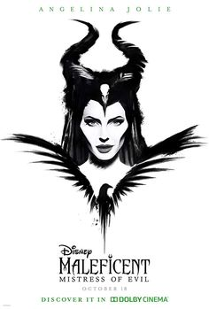 Disney Maleficent: Mistress Of Evil October 2019 Angelina Jolie Watch Maleficent, Disney Maleficent, Disney Villains, Maleficent Tattoo, Maleficent Drawing, Maleficent Quotes, Films Hd, Films Cinema, Hd Movies