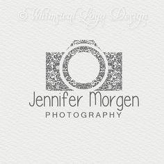Camera Logo Design and Watermark Design,  Damask  Logo - Boutique  Logo - Hand drawn logo - for Photographers and Photography Studiogo Ill