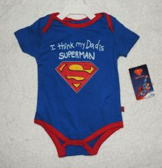 NEW Unisex Baby I Think My Dad Is Superman, Size 3-6 One Piece, Baby Shower Gift