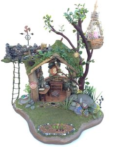 A personal favorite from my Etsy shop https://www.etsy.com/listing/261790631/fairy-house-for-a-fairy-garden