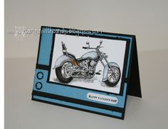 Stampin With Candy: Cards For Men Challenge 12 : Black and Blue