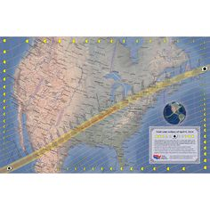 April 2024 Total Solar Eclipse Map in 2 sizes! — Total solar eclipse of April 2024 Solar Eclipse Map, Eclipse Path, 2024 Eclipse, Total Eclipse, Interesting Topics, Emergency Response, Space And Astronomy, Online College, Make Up Your Mind