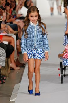 Oscar de la Renta Children's Wear Spring/Summer 2013... how do you get to be a child model??? do agents just come and pick you out when you are at the park or something?