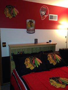 Chicago Blackhawks Bedroom | Decorating Ideas | Pinterest ...