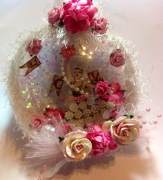 Shabby chic Xmas ornament by Delores Miller
