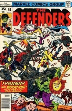 I've always loved Marvel comics. Ever since I was a kid I used to rush down to the local store and pick up the latest comic books. Marvel Comic Books, Marvel Characters, Defenders Comics, Marvel Images, Classic Comics, Silver Surfer, Comic Book Covers, Cover Art, George Perez