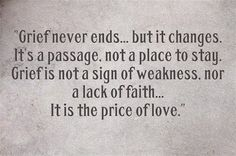 Meema's House: Grief is the price of love...