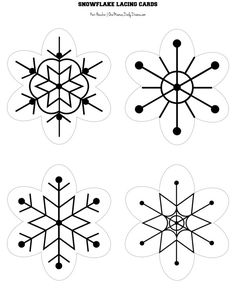 Snowflake lacing cards printable and activity | One Mama's Daily Drama