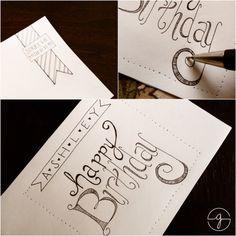 {Happy Birthday} Ashley :|: hand lettered birthday card