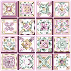 Blackwork and Cross Stitch Seasons Biscornu Collection. $12.00, via Etsy.