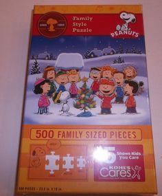 Peanuts Family Style 500 Piece Jigsaw Puzzle Charlie Brown Christmas Kohls  4801 #Kohls