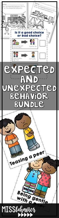 Teach behavior explicitly with this Expected and Unexpected Behaviors bundle!