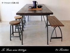 《IronTypeTable》180センチパイン無垢のダイニングテーブル