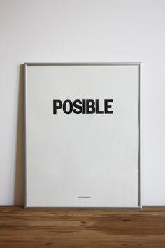 Plata Laus 2013 | Cartel |  Título: Posible |  Autor: Goñi Studio |  Cliente: Goñi Studio