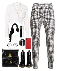 """Untitled #575"" by princessnyaaa ❤ liked on Polyvore featuring Balmain, T By Alexander Wang, Dr. Martens, Chanel, Gucci, Magda Butrym, NARS Cosmetics, Ray-Ban and Marc Jacobs"