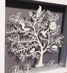 Animal Family Tree Floating Papercut on Etsy and Facebook from £40.00  Etsy - https://www.etsy.com/uk/shop/RosebudPaperCrafts?ref=si_shop Facebook - www.facebook.com/rosebudpapercrafts