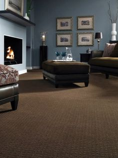 Living Room Colors Brown Couch paint colors with dark brown carpet - google search | making a