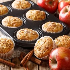 Apple Oatmeal Muffins, Applesauce Muffins, Apple Cinnamon Muffins, Cinnamon Apples, Chips Au Four, Weight Watchers Muffins, Peanut Butter Chips, Baked Chips, Muffin Recipes