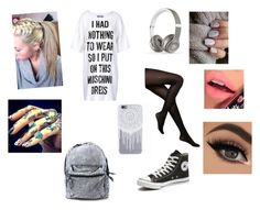 """Lazy"" by fallenangel431 ❤ liked on Polyvore featuring Moschino, Kate Spade, Beats by Dr. Dre, Fiebiger, Converse, women's clothing, women's fashion, women, female and woman"