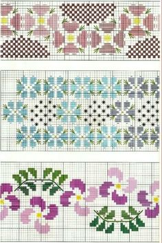 Cross Stitch Borders, Cross Stitch Rose, Cross Stitch Flowers, Cross Stitch Patterns, Bargello, Hardanger Embroidery, Loom Beading, Bunt, Bookmarks