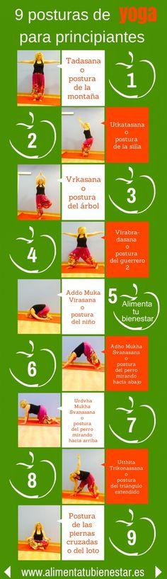9 posturas de #yoga para principiantes y para hacer en casa #bienestar #fueraestres