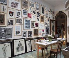 Super sized salon wall. #details chez #christianastuguevieille #research #provenance