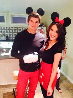Couples costume Mini and Mickey Halloween Mickey Mouse Mini mouse For Everlyu0027s first Birthday party!  sc 1 st  Pinterest & Minnie Mouse DIY Teen Halloween Costumes - Bing Images | Crafty ...