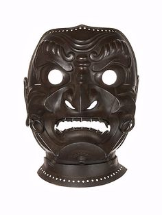 Mask  Inscribed by Myōchin Muneakira  (Japanese, Edo period, 1673–1745)  Lacquered iron
