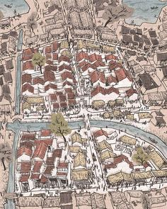 [Illustrations] Paintings of Hanoi's Old Quarter in the Feudal Era - Urbanist Hanoi