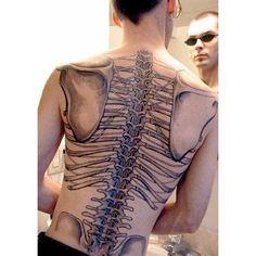 WEBSTA @ chiveworthy1 - #backtattoo #tattoo #skeleton #bones #intetesting…