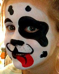 Dalmation Face Painting Pictures