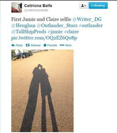 Sam and Caitriona selfie in London