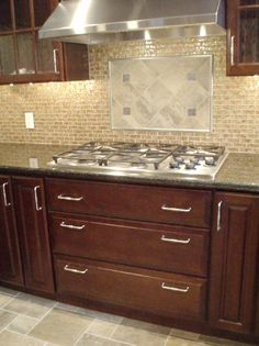 Kitchen Backsplash With Cherry Cabinets kitchens matching travertine kitchen floor and backsplash and