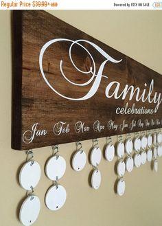 ON SALE Handmade Family Birthday Board by InfiniteDesigns4u