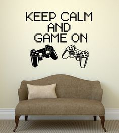Wall Decal Video Game Gamer Boys Room Joystick Computer PC Vinyl Decal (ig2751) #Wallstickers4you
