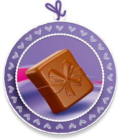 """Schokoladen Mood Milka Praline """"Herzlicher Glückwunsch!"""""""