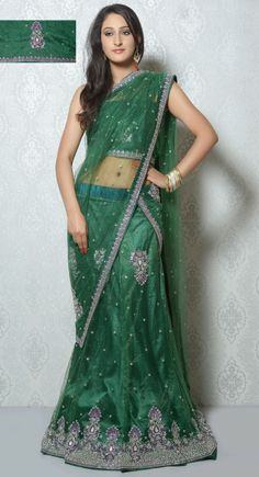 Majesty Bottle Green #Lehenga #Choli