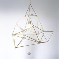Suspension Golden Drop, design Nicolas Brevers - GOBO Harmony Art, Platonic Solid, Decoration, Chandelier, Ceiling Lights, Drop, Design, Inspiration, Lighting