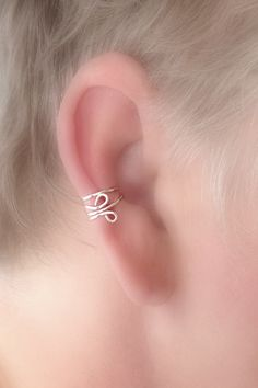 NEW / Simple Everyday Ear Cuff in STERLING by TheLazyLeopard, $12.00