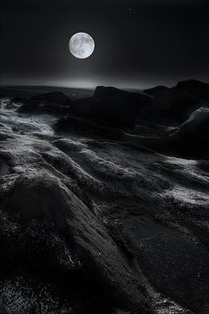 via Photographie Noir et Blanc II Full moon