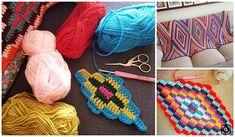 KİLİM BEBEK BATTANİYELERE,KOLTUKLARA EV DEKORUNA ÖRGÜ | Nazarca.com Crochet Bracelet Pattern, Crochet Wrap Pattern, Crochet Square Patterns, Crochet Blanket Patterns, Baby Knitting Patterns, Crochet Motif, Crochet Designs, Crochet Stitches, Crochet Baby