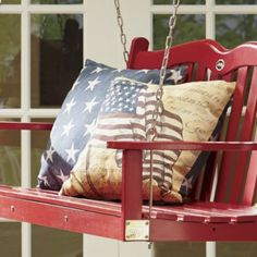Freedom Flag Indoor/Outdoor Pillow from Through the Country Door® | NI39311