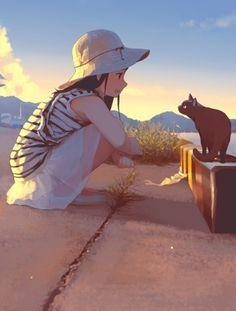 Since 2013 Rawr Anime Scenery Wallpaper, Anime Artwork, Cartoon Girl Drawing, Girl Cartoon, Kawaii Anime Girl, Anime Art Girl, Illustration Pop Art, Digital Art Girl, Cartoon Art Styles