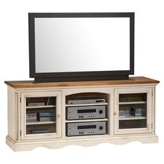"""Found it at Wayfair - Wilshire 66"""" TV Stand in Antique White"""