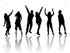 dance party silhouette - Google Search
